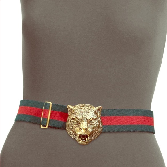 6e2414496c0 Gucci Accessories - GUCCI Tiger Buckle Web Belt! Worn Once